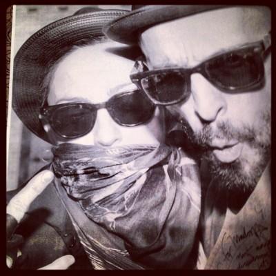 Madonna Instagram with my friend JR ART Equals revolution