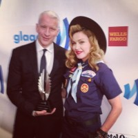 Madonna dressed up as boy scout at the GLAAD Media Awards - Anderson Cooper (1)
