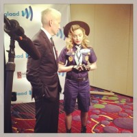 Madonna dressed up as boy scout at the GLAAD Media Awards - Anderson Cooper (2)