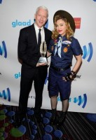 Madonna dressed up as boy scout at the GLAAD Media Awards - Anderson Cooper - Backstage (3)