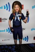 Madonna dressed up as boy scout at the GLAAD Media Awards - Anderson Cooper - Backstage (5)