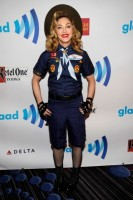Madonna dressed up as boy scout at the GLAAD Media Awards - Anderson Cooper - Backstage (6)