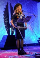Madonna dressed up as boy scout at the GLAAD Media Awards - Anderson Cooper - Backstage (24)