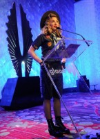 Madonna dressed up as boy scout at the GLAAD Media Awards - Anderson Cooper - Backstage - HQ (1)