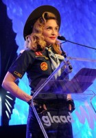 Madonna dressed up as boy scout at the GLAAD Media Awards - Anderson Cooper - Backstage (28)