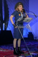 Madonna dressed up as boy scout at the GLAAD Media Awards - Anderson Cooper - Backstage (31)