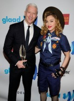 Madonna dressed up as boy scout at the GLAAD Media Awards - Anderson Cooper - Backstage - HQ (5)