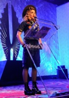Madonna dressed up as boy scout at the GLAAD Media Awards - Anderson Cooper - Backstage (32)