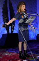 Madonna dressed up as boy scout at the GLAAD Media Awards - Anderson Cooper - Backstage (33)