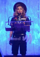 Madonna dressed up as boy scout at the GLAAD Media Awards - Anderson Cooper - Backstage - HQ (32)