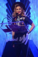 Madonna dressed up as boy scout at the GLAAD Media Awards - Anderson Cooper - Backstage - HQ (34)