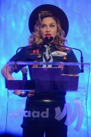 Madonna dressed up as boy scout at the GLAAD Media Awards - Anderson Cooper - Backstage - HQ (35)
