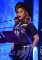 Madonna dressed up as boy scout at the GLAAD Media Awards - Anderson Cooper - Backstage - HQ (39)