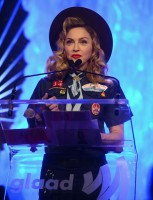 Madonna dressed up as boy scout at the GLAAD Media Awards - Anderson Cooper - Backstage - HQ (40)