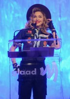 Madonna dressed up as boy scout at the GLAAD Media Awards - Anderson Cooper - Backstage - HQ (44)