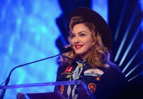 Madonna dressed up as boy scout at the GLAAD Media Awards - Anderson Cooper - Backstage - HQ (48)