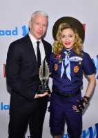 Madonna dressed up as boy scout at the GLAAD Media Awards - Anderson Cooper - Backstage - HQ (51)