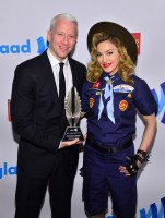 Madonna dressed up as boy scout at the GLAAD Media Awards - Anderson Cooper - Backstage - HQ (53)