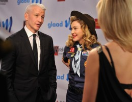 Madonna dressed up as boy scout at the GLAAD Media Awards - Anderson Cooper - Backstage - HQ (61)