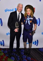 Madonna dressed up as boy scout at the GLAAD Media Awards - Anderson Cooper - Backstage - HQ (63)