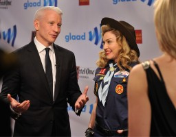 Madonna dressed up as boy scout at the GLAAD Media Awards - Anderson Cooper - Backstage - HQ (64)