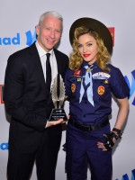 Madonna dressed up as boy scout at the GLAAD Media Awards - Anderson Cooper - Backstage - HQ (65)