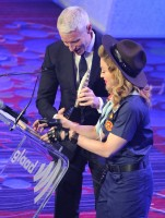 Madonna dressed up as boy scout at the GLAAD Media Awards - Anderson Cooper - Backstage - HQ (79)