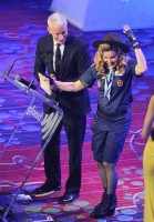 Madonna dressed up as boy scout at the GLAAD Media Awards - Anderson Cooper - Backstage - HQ (80)