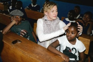 Madonna and family visiting Malawi - Mkoko Primary School - 2 April 2013 (2)