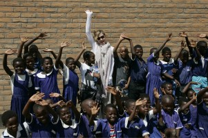 Madonna and family visiting Malawi - Mkoko Primary School - 2 April 2013 UPDATE (2)