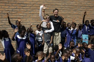 Madonna and family visiting Malawi - Mkoko Primary School - 2 April 2013 UPDATE (3)