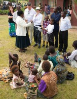 Madonna visits Mphandula Childrencare Centre in Namitete, Malawi - 5 April 2013 (2)