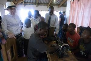 Madonna visits Mphandula Childrencare Centre in Namitete, Malawi - 5 April 2013 (5)