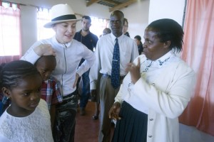 Madonna visits Mphandula Childrencare Centre in Namitete, Malawi - 5 April 2013 (7)