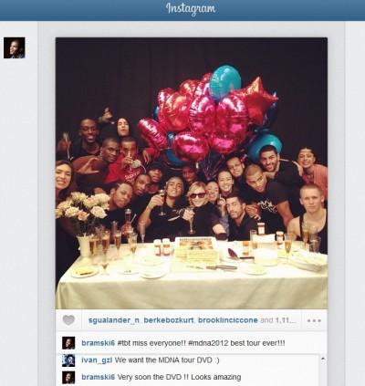 MDNA Tour DVD Soon - Brahim Zaibat Instagram