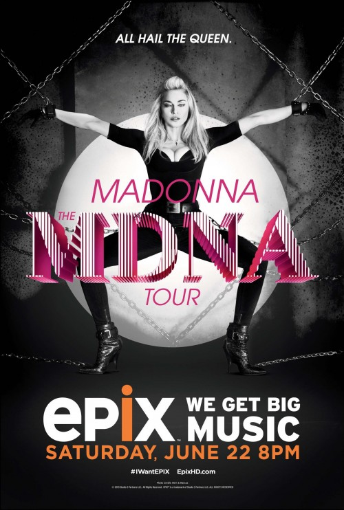 Official MDNA Tour EXIX Poster