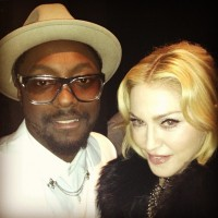 Madonna and Will I Am backstage at the Billboard Music Awards