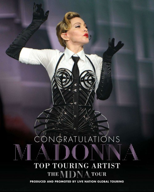 Billboard Magazine Madonna on her Top Touring Artist Billboard Music Award