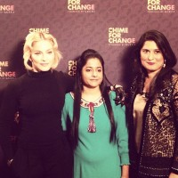 Madonna at Sound of Change concert by Chime for Change