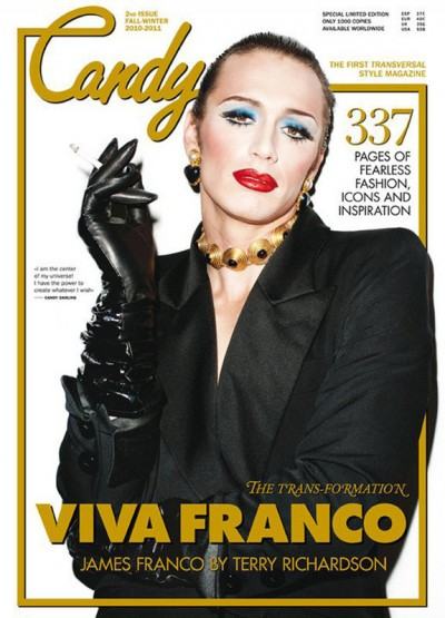 Madonna - James Franco - Candy Magazine cover