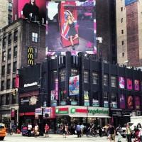 Madonna, Rita Ora, Material Girl - Times Square New York
