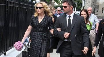 Madonna attends David Collins funeral - Monkstown Ireland - 23 July 2013 (2)