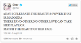 Cher defends Madonna on Twitter 01