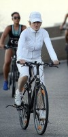 Madonna out and about on bike, south of France - 11 August 2013 (3)