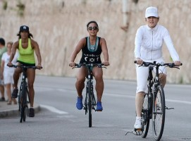 Madonna out and about on bike, south of France - 11 August 2013 (4)