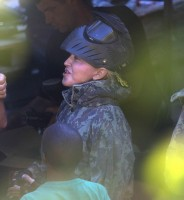 Madonna enjoys paintball game - Rocco birthday - 11 August 2013 (3)