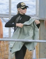 Madonna at the beach in Villefranche, France - 14 August 2013 (2)