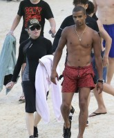 Madonna at the beach in Villefranche, France - 14 August 2013 (3)