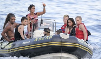 Madonna at the beach in Villefranche, France - 14 August 2013 (4)