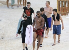 Madonna at the beach in Villefranche, France - 14 August 2013 (12)